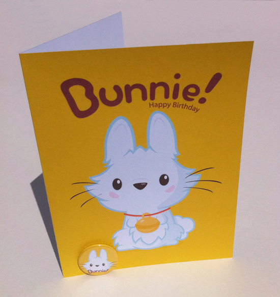 Bunnie Birthday Card