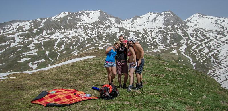 selfie sopra la valle argentera neve e montagne