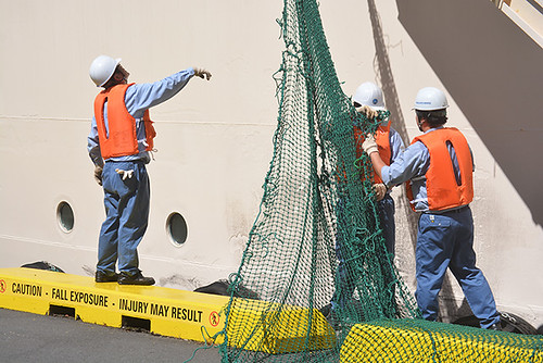 setting up gangway netting