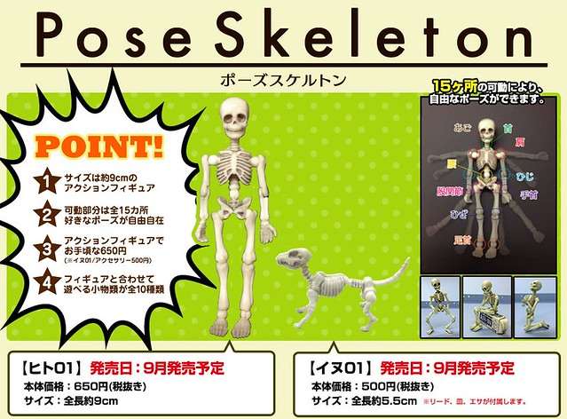 Re-Ment  Pose Skeleton系列 盒玩