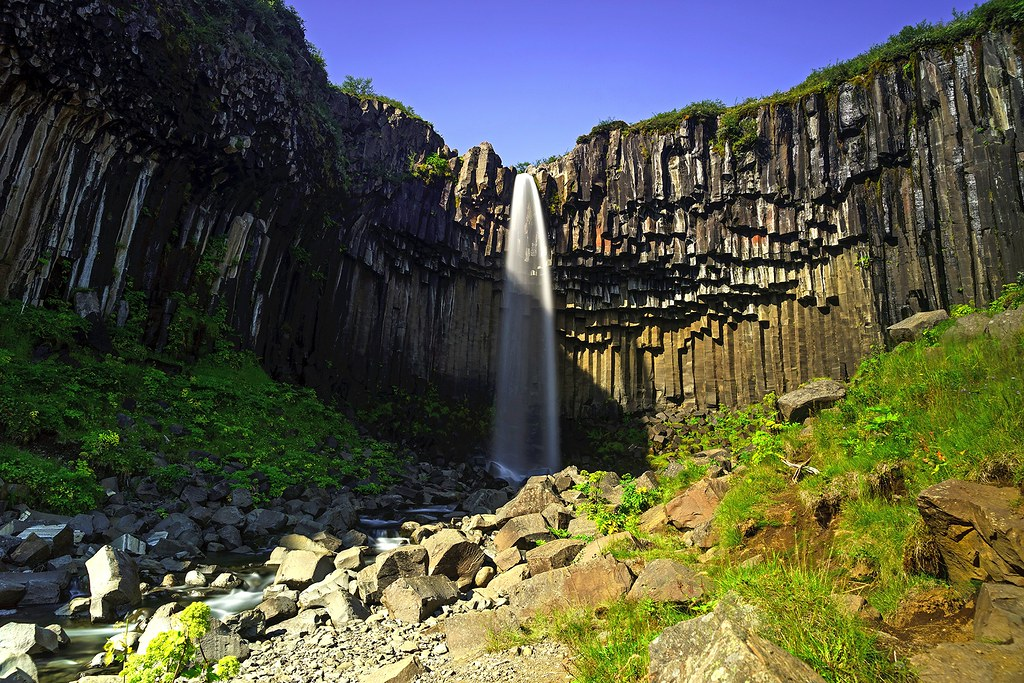 Svartifoss (Black Fall) - Skaftafell - Vatnajökull National Park in Iceland