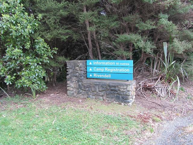Entrada a Rivendell en el Kaitoke Regional Park