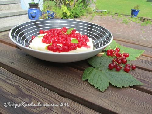 Grießbrei mit roten Johannisbeeren-Grießkoch mit Ribiseln (1)
