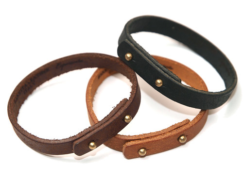 Esperanto / Pueblo Leather Bracelet