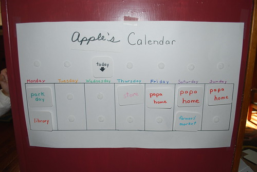 DIY Toddler Calendar