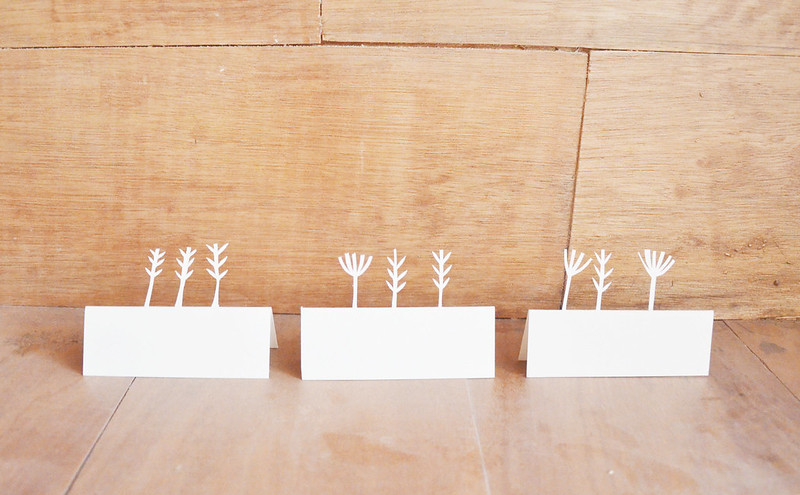 Papercut Place Cards