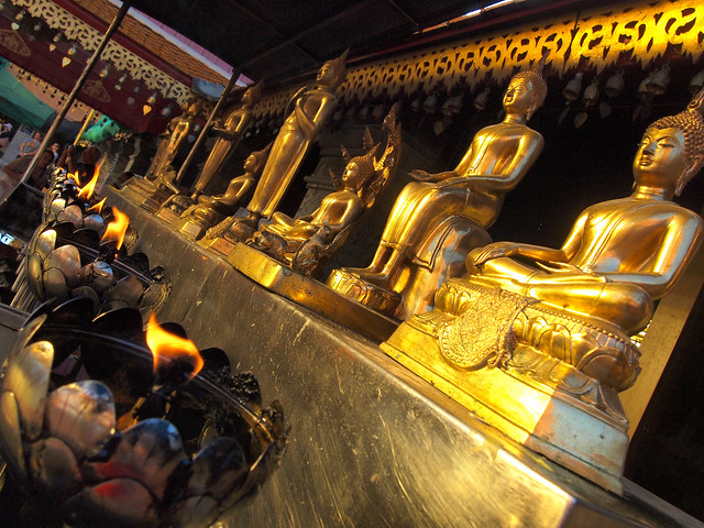 Golden buddhas at Wat Phra That Doi Suthep