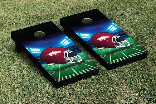 Arkansas Razorbacks Cornhole Game Set Banner Stadium Version