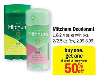 Mitchum Deodorant at Meijer