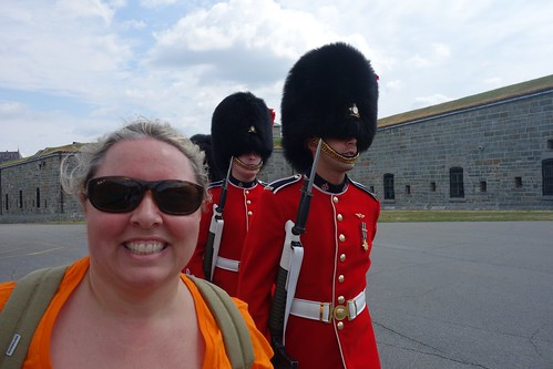 Claire at the Changing of the guard