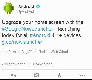 Google Now Launcher на Android 4.1