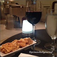"""Enjoying a glass of red wine while my girl on the piano plays """"Autumn Leaves"""" for me--and it's just the two of us. There is nothing better than this.  www.princesdailyjournal.com #princeinthecity #princesdailyjournal #boston #redwine #malbec #jazz #piano"""