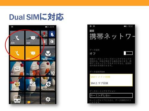 Dual SIMに対応