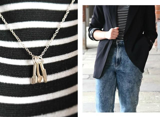 UK fashion blog acid wash high waisted jeans