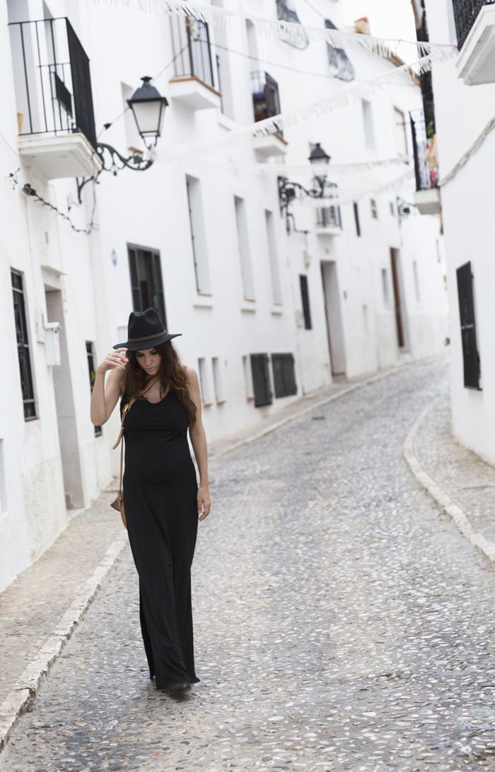 street style barbara crespo altea black long dress C&A fashion blogger outfit blog de moda