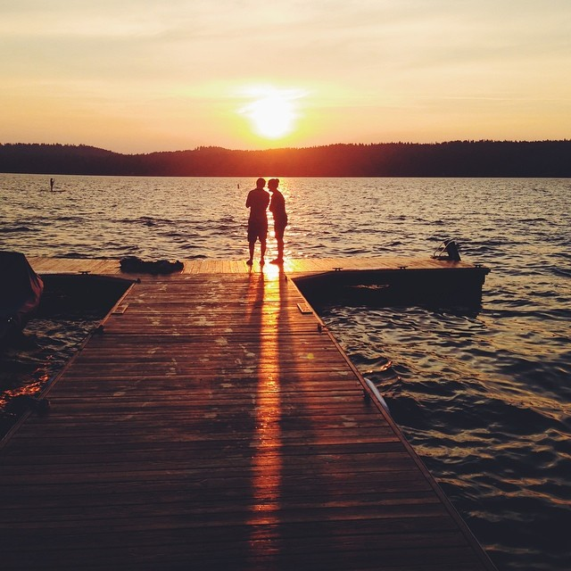 Home from vacation and missing the sunsets in McCall. Why can't this be my everyday? #mccall #idaho #payettelake