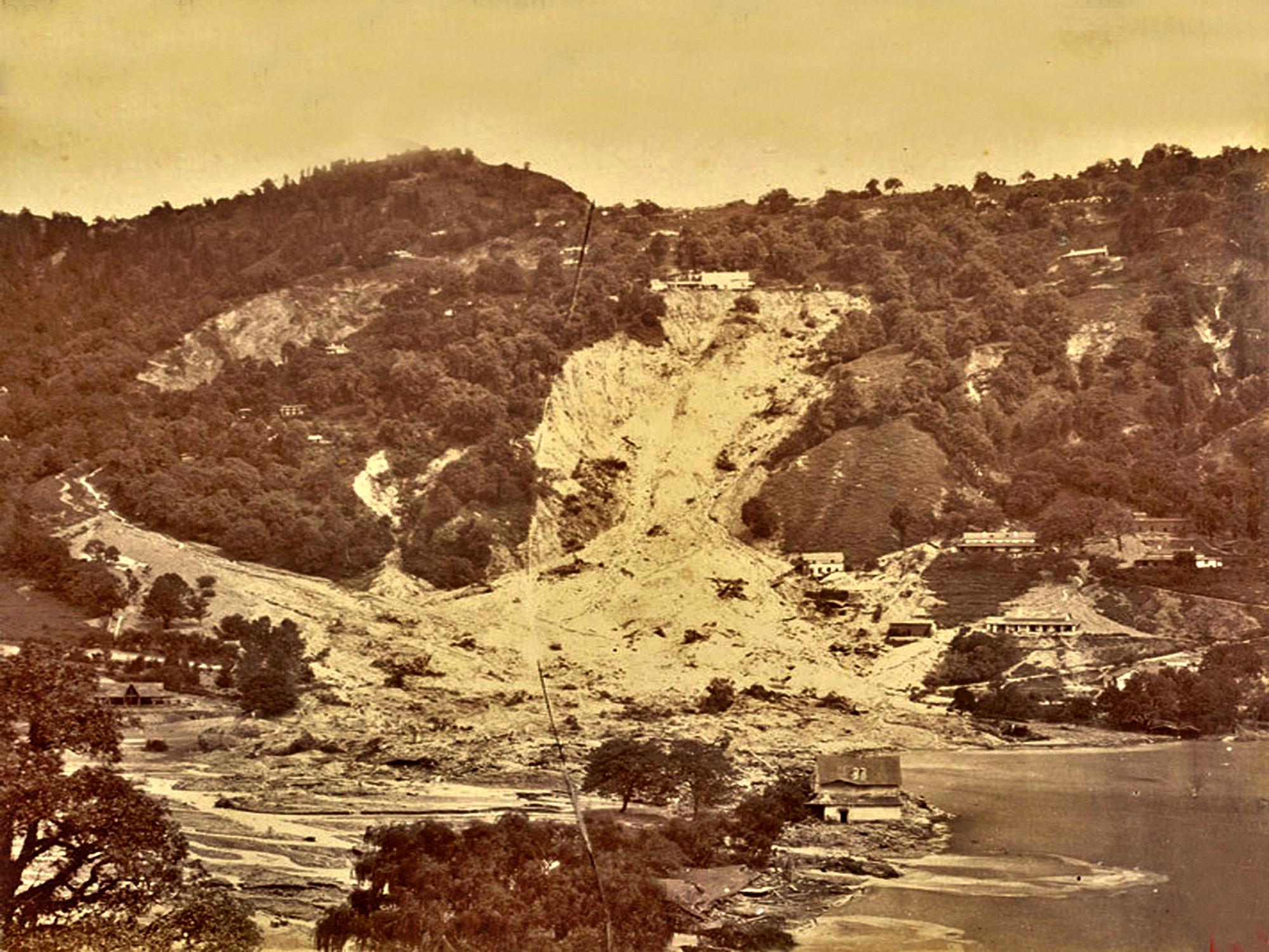 1880 के भूस्खलन का दृश्य