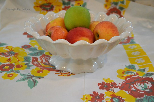 Ironstone Scalloped Bowl