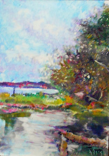 duck pond plein air