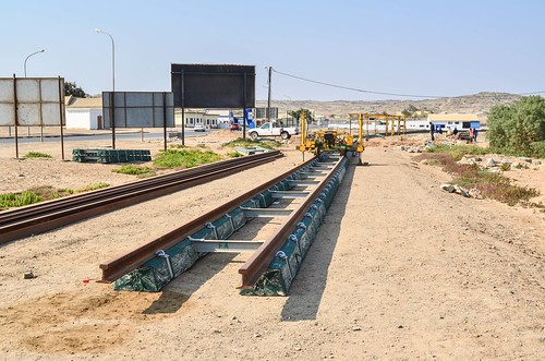 Aus-Lüderitz railway construction reaching its end point