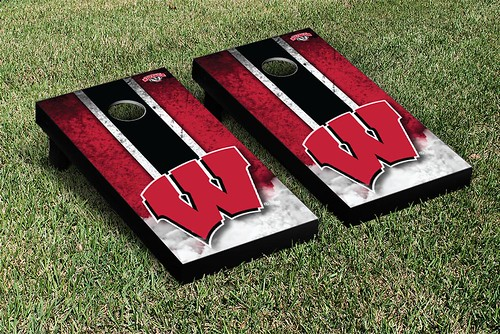 Wisconsin Badgers Cornhole Game Set Vintage Version