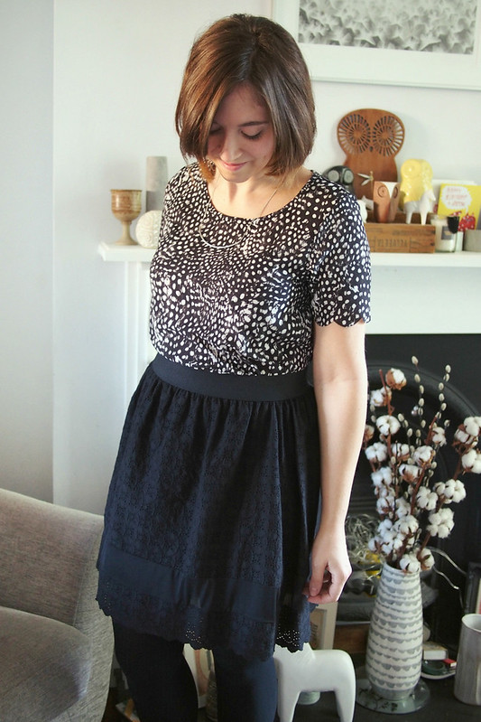 Black broderie two-piece