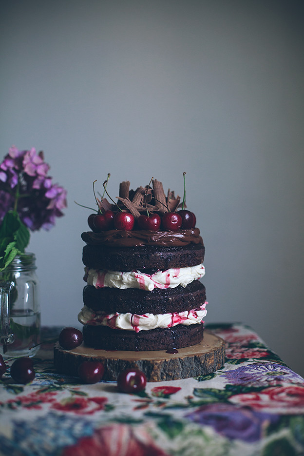 Black Forest Cake Made With Meringue