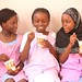 Young Girls Eating Yogurt by USAID_IMAGES