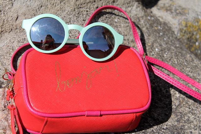 Bag and sunglasses