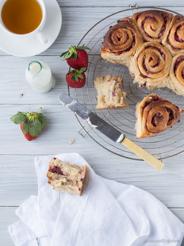 Spiced Strawberry Scrolls