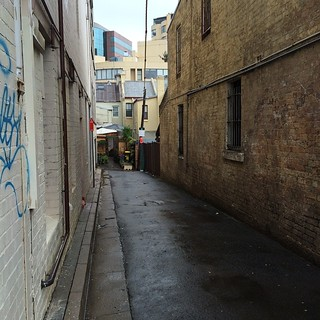 Surry Hills lanes in the rain 1