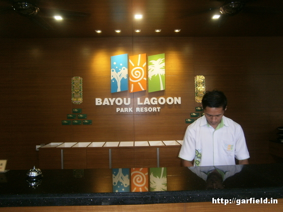 Bayou Lagoon park Resort Reception