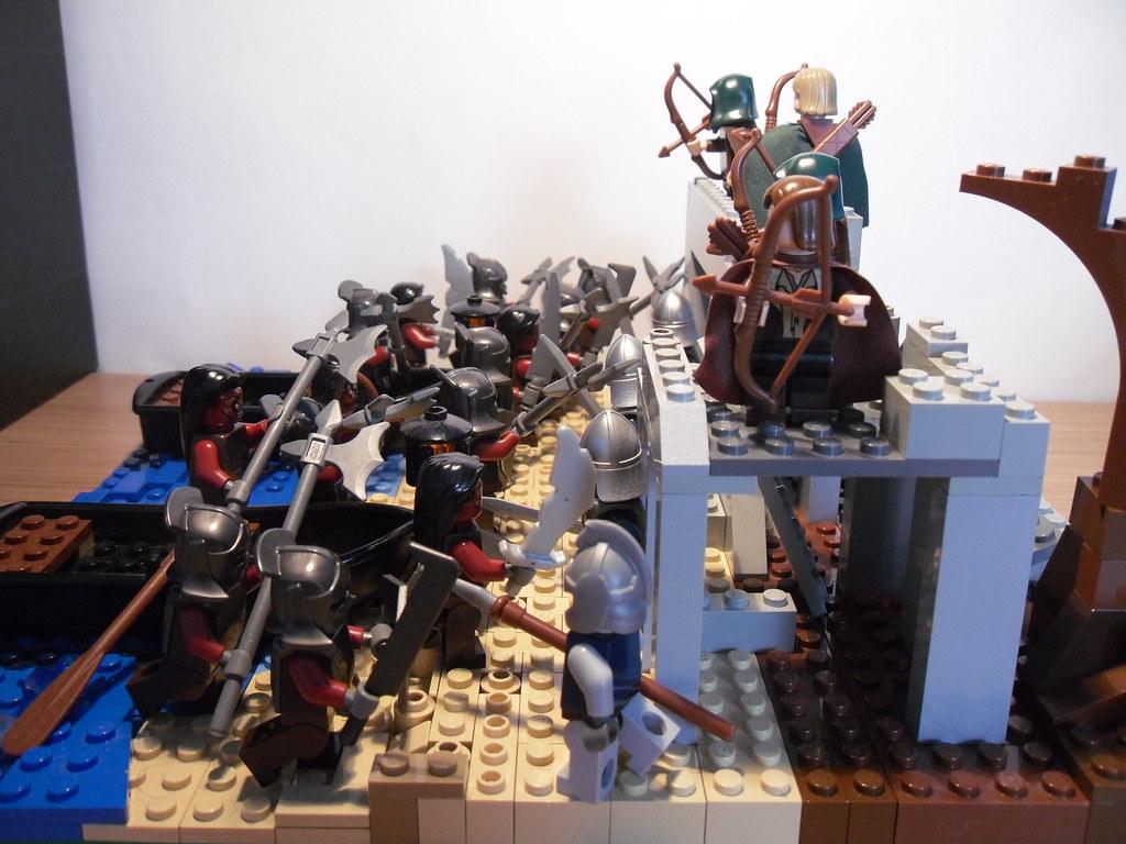 Lego Lotr Osgiliath Moc W Gondor Soldiers And Rangers Of Flickr
