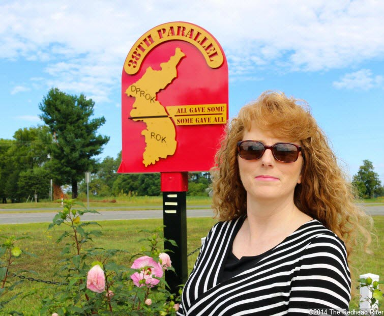 Sherry Redhead Riter at 38th Parallel Memorial Garden in Milford Virginia