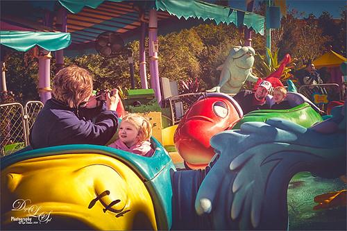 Image of people on Caro-Seuss-el at Universal Studios, Orlando
