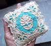 Vintage hand-embroidered sachet