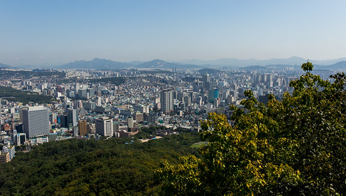 city tower cityscape north seoul southkorea namsan myeongdong