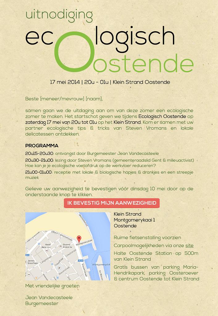 Uitnodiging Ecologisch Oostende
