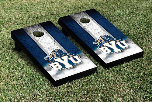 Brigham Young University BYU Cougars Cornhole Game Set Vintage Version