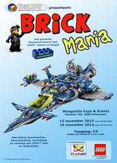 Poster Brick Mania Antwerp 2014