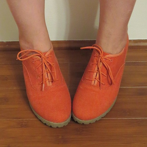 Coral Lace-up Wedges