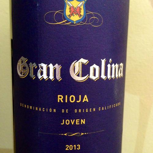 Gran Colina Rioja 2013. Red wine. Wine. Spanish wine.