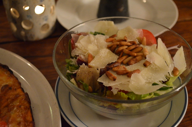 Cielo di Berlino Italian restaurant salad with pine nuts and parmesan Berlin