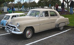 hudson hornet(0.0), plymouth cranbrook(0.0), automobile(1.0), automotive exterior(1.0), pontiac chieftain(1.0), vehicle(1.0), full-size car(1.0), mid-size car(1.0), compact car(1.0), antique car(1.0), sedan(1.0), classic car(1.0), vintage car(1.0), land vehicle(1.0), luxury vehicle(1.0), motor vehicle(1.0),