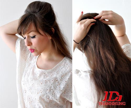Cách búi tóc đẹp đơn giản! Kiểu búi tóc cao, phồng, xì tin 2