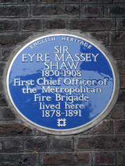Photo of Eyre Massey Shaw blue plaque