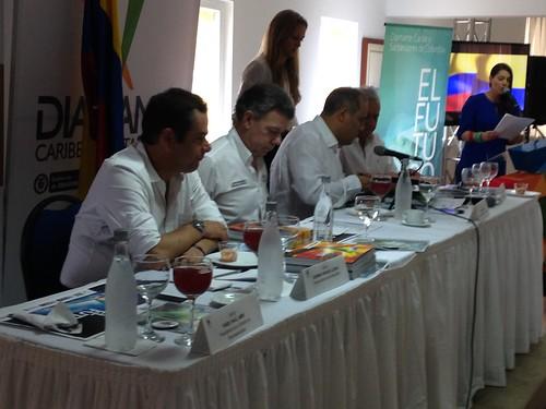 José David Name y Juan Manuel Santos