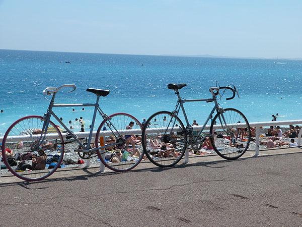 vélo sur la prom