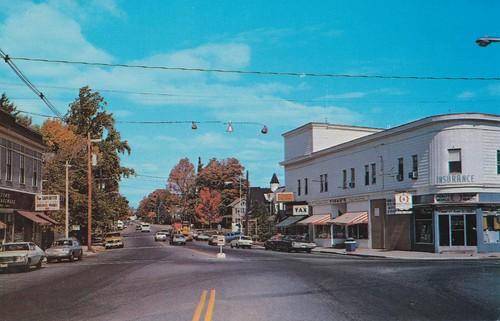 city vintage view massachusetts postcard holliston