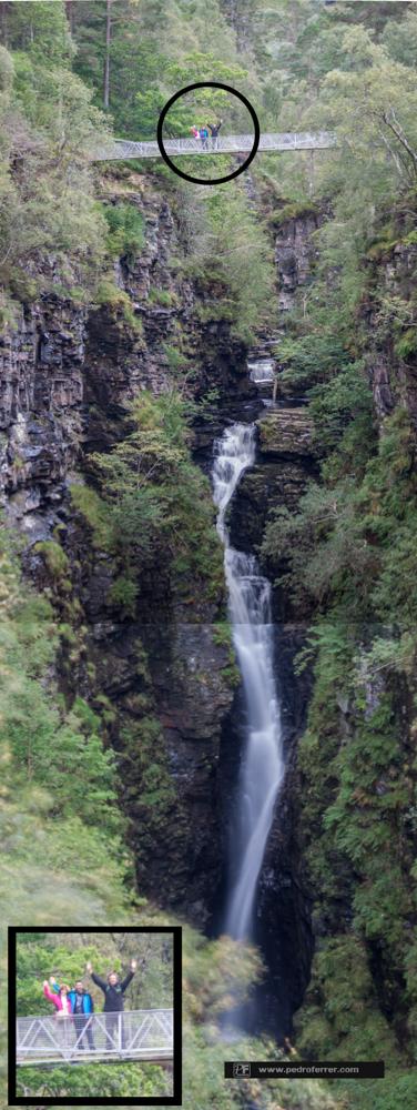 Measach falls y Corrieshalloch gorge